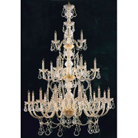 Crystorama Traditional Crystal 21 Light Chandelier in Polished Brass 5035-PB-CL-I
