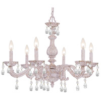 Paris Market 6 Light 28 inch Antique White Chandelier Ceiling Light in Hand Cut, Antique White (AW)