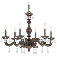 Crystorama Sutton 6 Light Chandelier in Venetian Bronze with Swarovski Spectra Crystals 5036-VB-CL-SAQ