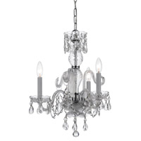 Crystorama Traditional Crystal 3 Light Mini Chandelier in Polished Chrome 5044X-CH-CL-I