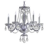 Crystorama Traditional Crystal 5 Light Chandelier in Polished Chrome 5045-CH-CL-S