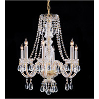 Crystorama Traditional Crystal 6 Light Chandelier in Polished Brass 5046-PB-CL-SAQ