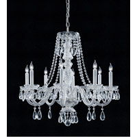 Crystorama Traditional Crystal 8 Light Chandelier in Polished Chrome with Hand Cut Crystals 5048-CH-CL-MWP