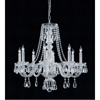 Crystorama Traditional Crystal 8 Light Chandelier in Polished Chrome with Swarovski Spectra Crystals 5048-CH-CL-SAQ