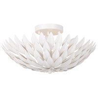 Broche 4 Light 16 inch Matte White Semi Flush Mount Ceiling Light in Matte White (MT)