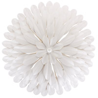 Broche 4 Light 16 inch Matte White Wall Sconce Wall Light in Matte White (MT)