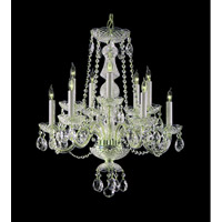 Crystorama Traditional Crystal 10 Light Chandelier in Polished Chrome with Swarovski Spectra Crystals 5050-CH-CL-SAQ