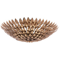 Crystorama Broche 6 Light Flush Mount in Antique Gold 507-GA