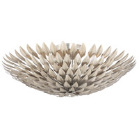 Crystorama Broche 6 Light Flush Mount in Antique Silver 507-SA_CEILING