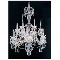 Traditional Crystal 9 Light 34 inch Chrome Chandelier Ceiling Light