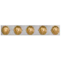 Crystorama 508-GA-SA Broche 5 Light 31 inch Antique Gold and Antique Silver Vanity Light Wall Light