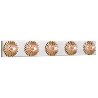 Crystorama 508-GA-SA Broche 5 Light 31 inch Antique Gold Bathroom Vanity Wall Light alternative photo thumbnail