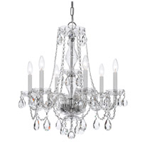 Crystorama Traditional Crystal 6 Light Chandelier in Polished Chrome 5086-CH-CL-SAQ