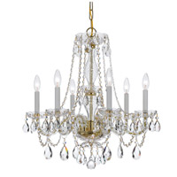 Crystorama 5086-PB-CL-MWP Traditional Crystal 6 Light 23 inch Polished Brass Chandelier Ceiling Light in Polished Brass (PB) Clear Hand Cut