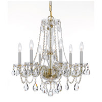 Crystorama Traditional Crystal 6 Light Chandelier in Polished Brass 5086-PB-CL-S