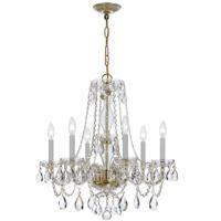 Crystorama 5086-PB-CL-S Traditional Crystal 6 Light 23 inch Polished Brass Chandelier Ceiling Light in Polished Brass (PB) Clear Swarovski Strass