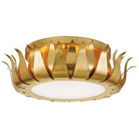 Crystorama 510-GA Broche 3 Light 16 inch Antique Gold Flush Mount Ceiling Light photo thumbnail
