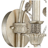 Crystorama 5112-OS-CL-MWP Regis 2 Light 13 inch Olde Silver Wall Sconce Wall Light in Olde Silver (OS), Clear Hand Cut alternative photo thumbnail