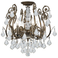 Crystorama Regis 6 Light Semi Flush Mount in English Bronze, Swarovski Elements 5115-EB-CL-S