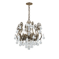 Crystorama Regis 6 Light Semi Flush Mount in English Bronze, Swarovski Elements 5115-EB-CL-S alternative photo thumbnail