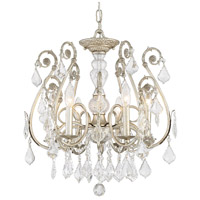 Crystorama Regis 6 Light Semi-Flush Mount in Olde Silver with Hand Cut Crystals 5115-OS-CL-MWP