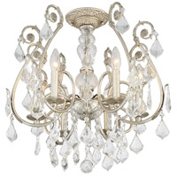 Crystorama 5115-OS-CL-MWP_CEILING Regis 6 Light 20 inch Olde Silver Flush Mount Ceiling Light