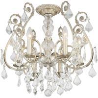 Crystorama 5115-OS-CL-MWP_CEILING Regis 6 Light 20 inch Olde Silver Flush Mount Ceiling Light