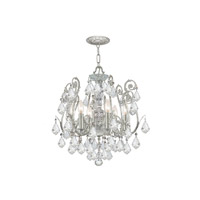 Crystorama 5115-OS-CL-MWP Regis 6 Light 20 inch Olde Silver Semi Flush Mount Ceiling Light in Hand Cut, Olde Silver (OS) alternative photo thumbnail