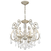 Crystorama Regis 6 Light Semi Flush Mount in Olde Silver, Swarovski Spectra 5115-OS-CL-SAQ