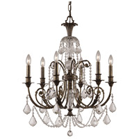 Crystorama Regis 6 Light Chandelier in English Bronze, Swarovski Spectra 5116-EB-CL-SAQ