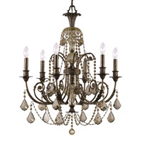Crystorama Regis 6 Light Chandelier in English Bronze with Swarovski Elements Crystals 5116-EB-GTS