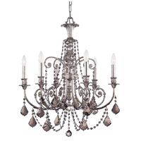 Crystorama Signature 1 Light Chandelier in Olde Silver 5116-OS-SS-MWP