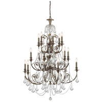 Crystorama 5117-EB-CL-S Regis 18 Light 37 inch English Bronze Chandelier Ceiling Light in Clear Swarovski Strass