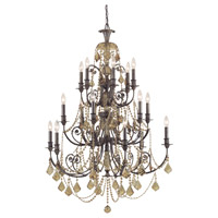 Crystorama Regis 18 Light Chandelier in English Bronze with Swarovski Elements Crystals 5117-EB-GTS