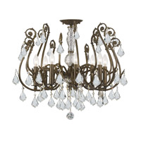 Regis 8 Light 24 inch English Bronze Semi Flush Mount Ceiling Light in Hand Cut
