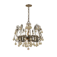 Crystorama Regis 8 Light Semi-Flush Mount in English Bronze, Golden Teak, Swarovski Elements 5118-EB-GTS alternative photo thumbnail