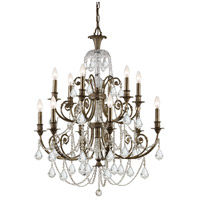 Crystorama Regis 12 Light Chandelier in English Bronze with Hand Cut Crystals 5119-EB-CL-MWP