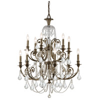 Crystorama Regis 12 Light Chandelier in English Bronze, Swarovski Elements 5119-EB-CL-S