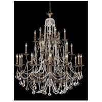 Crystorama Regis 24 Light Chandelier in English Bronze, Clear Crystal, Swarovski Spectra 5120-EB-CL-SAQ