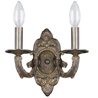 Crystorama Paris Flea Market 2 Light Wall Sconce in Venetian Bronze 5122-VB