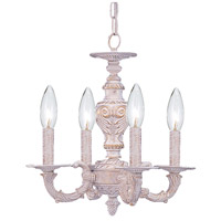 Crystorama 5124-AW Paris Market 4 Light 14 inch Antique White Mini Chandelier Ceiling Light in Antique White (AW)