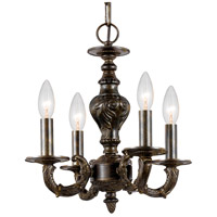 Crystorama Paris Market 4 Light Mini Chandelier in Venetian Bronze 5124-VB
