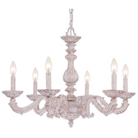 Crystorama Sutton 6 Light Chandelier in Antique White 5126-AW