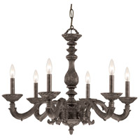 Crystorama Sutton 6 Light Chandelier in Venetian Bronze 5126-VB