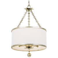 Crystorama 513-SA Broche 3 Light 14 inch Antique Silver Chandelier Ceiling Light in Antique Silver (SA)