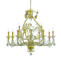 Crystorama Regis 12 Light Chandelier in Champagne with Hand Polished Crystals 5139-CM-CL-MWP