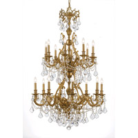 Crystorama Yorkshire 16 Light Chandelier in Aged Brass 5140-AG-CL-S photo thumbnail
