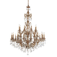 Crystorama Yorkshire 32 Light Chandelier in Aged Brass, Swarovski Elements 5147-AG-CL-S