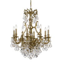 Crystorama Yorkshire 8 Light Chandelier in Aged Brass, Clear Crystal, Swarovski Spectra 5148-AG-CL-SAQ
