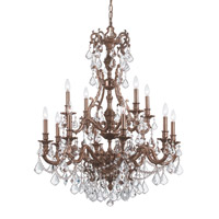 Crystorama Yorkshire 12 Light Chandelier in Aged Brass with Swarovski Spectra Crystals 5149-AG-CL-SAQ
